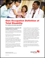 Own Occupation Definition of Total Disability for Medical Specialties